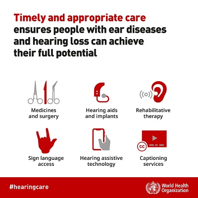 Six hearing care interventions can support people with hearing loss